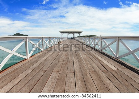 A walkway over the sea. - stock photo