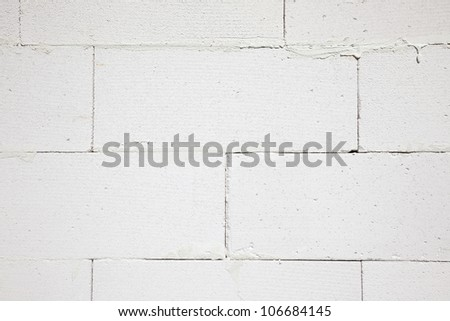 a wall built of gas concrete - stock photo