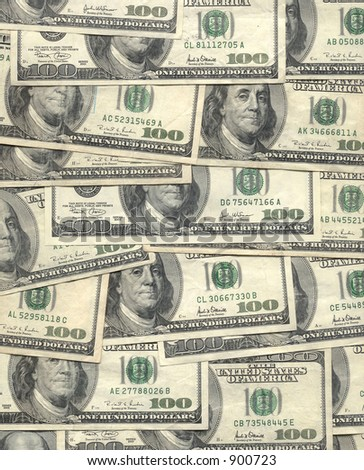 A wall papered with cash - stock photo