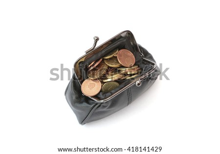A wallet filled with money - stock photo