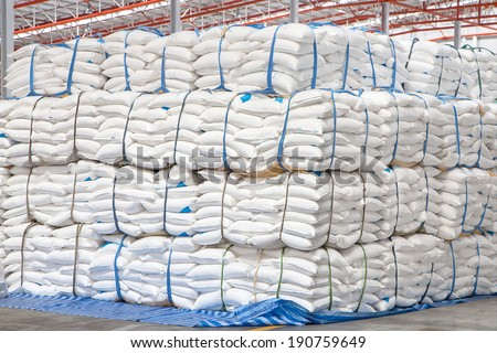 A warehouse is a commercial building for storage of goods. Warehouses are used by manufacturers, importers, exporters, wholesalers, transport businesses, customs, etc - stock photo