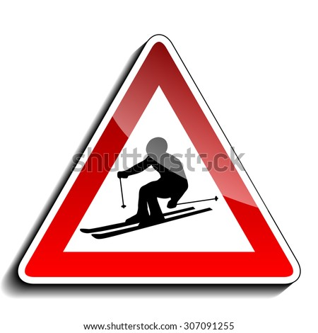 A warning sign - stock photo