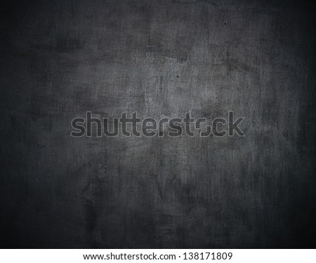 A washed school or university blackboard - stock photo