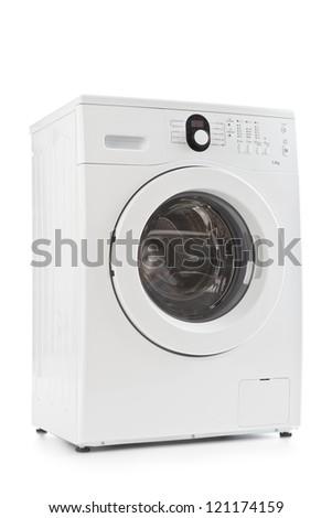 A washing machine isolated on white background - stock photo