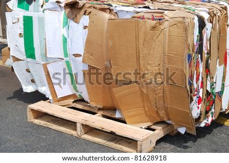 A wastepaper bundle - stock photo