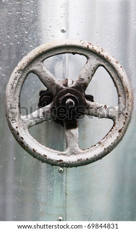 a water faucet - stock photo