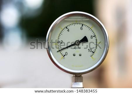 a water manometer (pressure meter) - stock photo