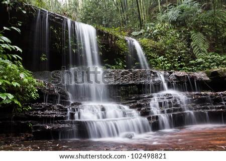 A waterfall - stock photo