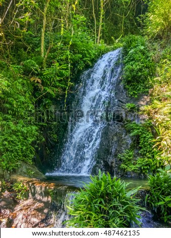 A waterfall in Ng Tung Chai tail in Tai Mo Shan country park in Hong Kong