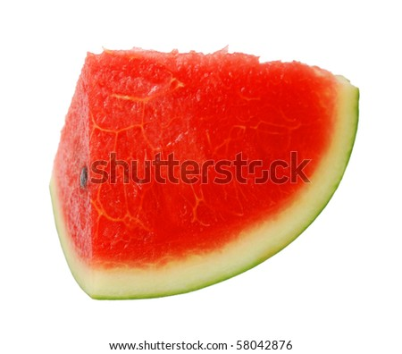 A watermelon slice