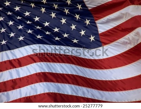 A waving American Flag