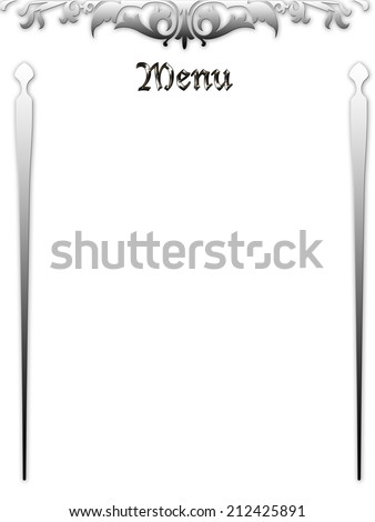 a wedding menu on the white background