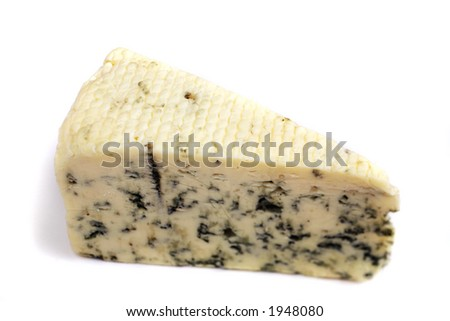 A wedge of Danish Blue cheese