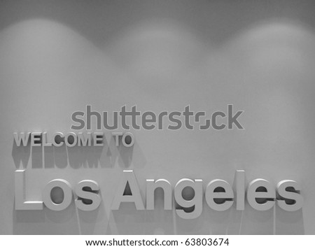 A welcome sign at the Los Angeles International Airport.