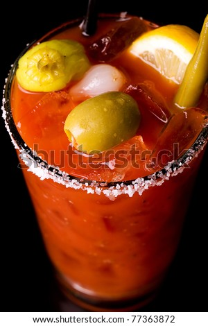 a well garnished bloody mary