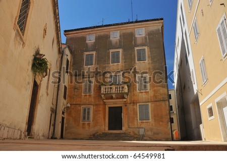 A well preserved venetian style rennaissance house in the Croatian town of Zadar