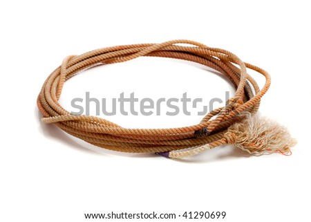 A western lasso on a white background - stock photo