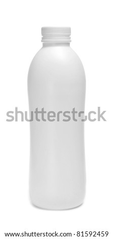 a white bottle on a white background - stock photo