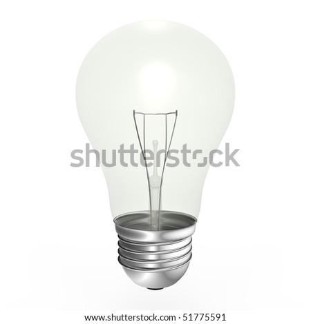 A white light bulb - a 3d image - stock photo