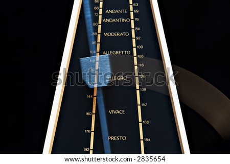 A White Music Metronome Counting Off Time. - stock photo