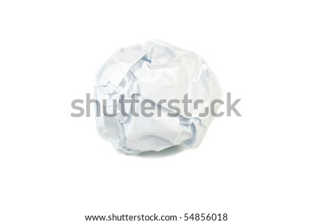 a white paper ball - stock photo