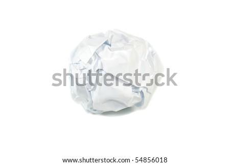 a white paper ball - stock photo