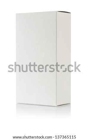 a white paper box isolated - stock photo
