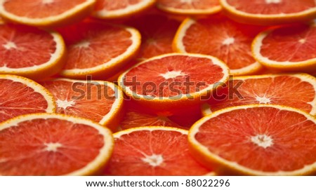 A whole bunch of dried orange slices