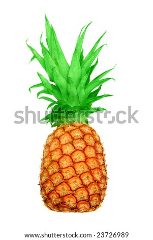 A whole pineapple isolated on white.
