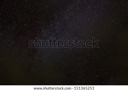 A wide field astrophotographic image showing detail from the Milky Way. - stock photo