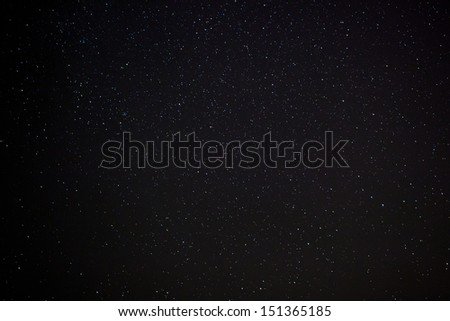 A wide field astrophotographic image showing real stars - stock photo
