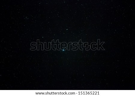 A wide field astrophotographic image showing real stars and the brightest of them all, Vega - stock photo