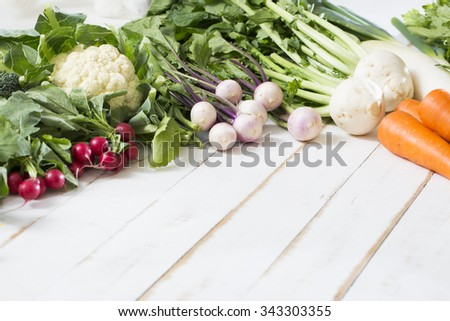 A wide variety of vegetables, background