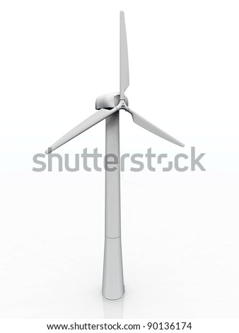 a wind turbine on a white background