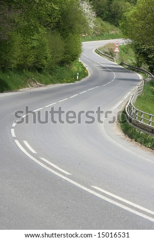 A winding road in Slovakia. - stock photo