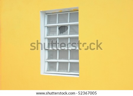 A Window with a broken glass
