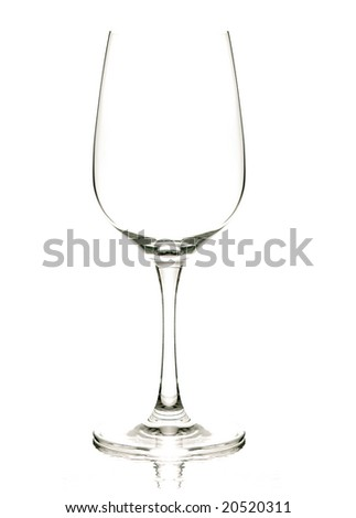 a wine glass  with back lighting