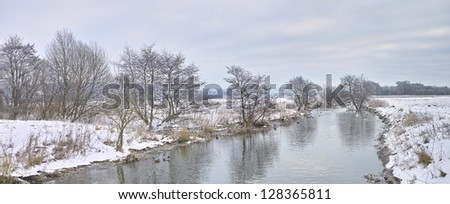A winter landscape photo