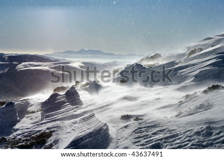 A winter storm. - stock photo