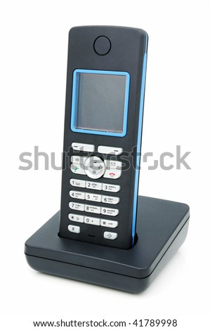 A wireless phone with LCD, standard DECT.