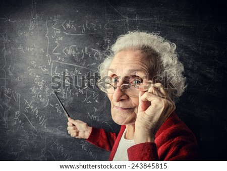 A wise teacher  - stock photo
