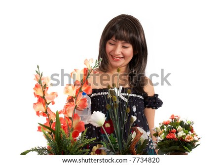 A woman - stock photo