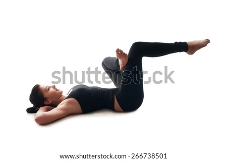 A woman doing exercises for healthy body - stock photo