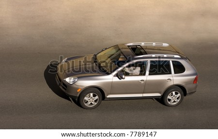 a woman driving suv car  car of my numerous cars series - stock photo