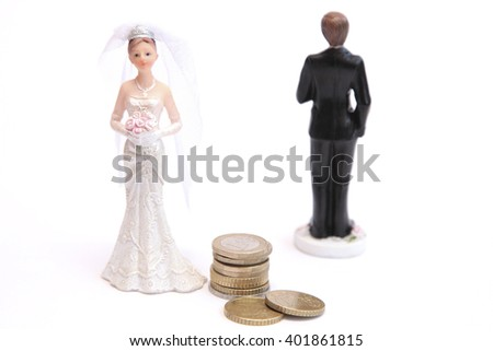 A woman gets alimony  - stock photo