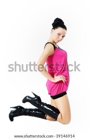 a woman on knees is sexua - stock photo
