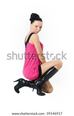 a woman on knees is sexua