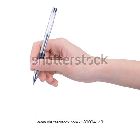 A woman's hand writing - stock photo