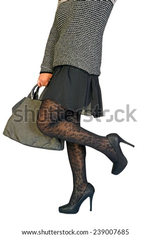 A woman very elegant and sensual - stock photo