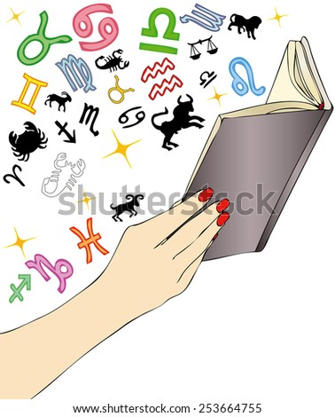 Horoscope Reading Clip Art